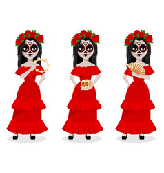 Day of the dead traditional holiday vector