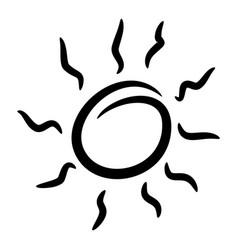 design elements funny doodle sun vector image