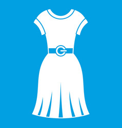 dress icon white vector image