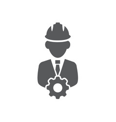 engineer icon on white background vector image
