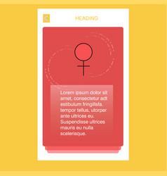 female mobile vertical banner design design vector image