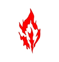Fire red silhouette vector image