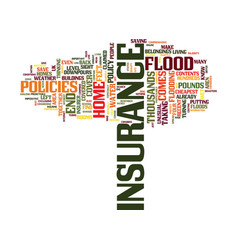 Flood insurance could save you thousands text vector