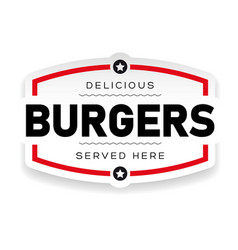 food logo burger vintage vector image