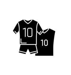 football clothes black icon sign on vector image