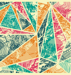 Geometric pattern abstract background grunge vector