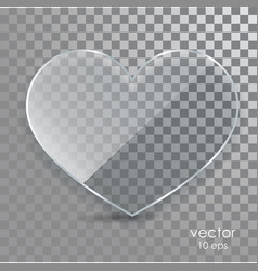 glass heart on a transparent background vector image