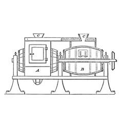 Glazing barrel vintage vector