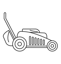 Grass cut machine icon outline style vector