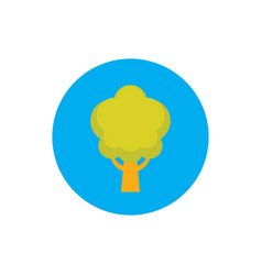 green nature tree - concept icon in flat graphic vector image