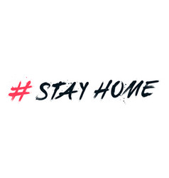 Hand drawn hashtag stay home with splash effects vector