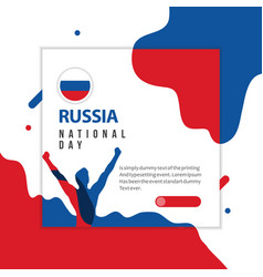 Happy russia national day template design vector