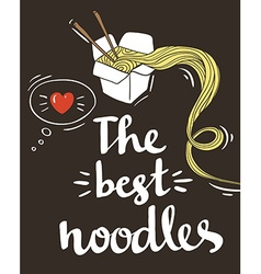 Hipster Noodle doodles Backgroundhand drawing vector image