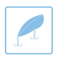 Icon of fishing spoon vector