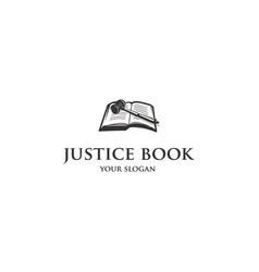 Justice book logo vector