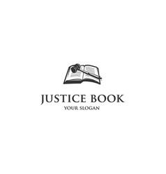 justice book logo vector image