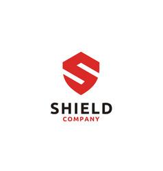 letter s shield secure safe secret strong logo vector image