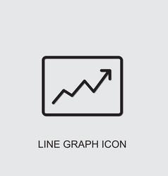 Line graph icon vector