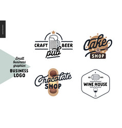 Logo - small business graphics - cafe and vector