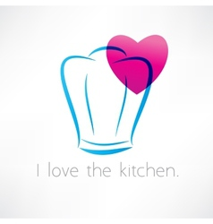 love to cook icon vector image