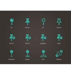 Mapping Pin icons vector