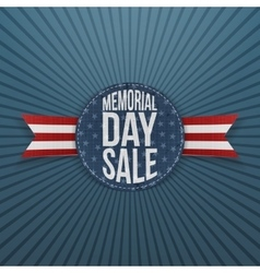 Memorial Day Sale realistic Sign and Ribbon vector image