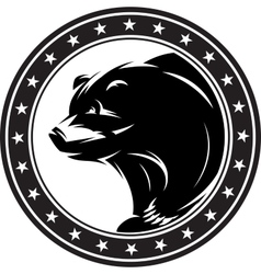 Monochrome pattern with bear for a logo vector