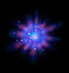 neon blue and pink glitter particles background vector image