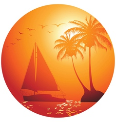 Ocean yacht vector