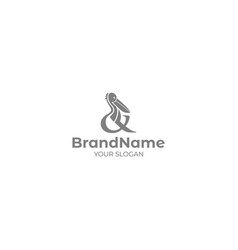 pelican logo design vector image