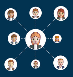 people network design vector image