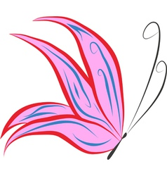 pink butterfly vector image