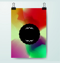 poster minimal design template business vector image