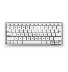 Realistic desktop keyboard mockup 3d black vector