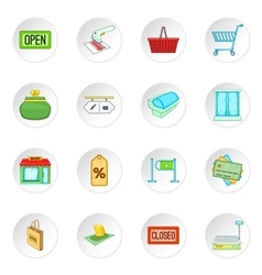 Retail icons set vector