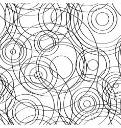 seamless circles background black vector image