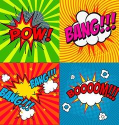 Set comic style phrases vector