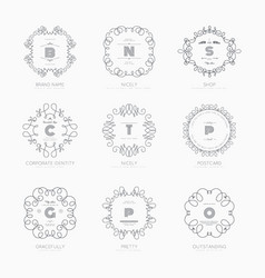 set luxury signs vector image