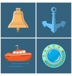 Set of Marine Icons vector
