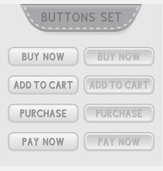 set web buttons menu interface icons vector image