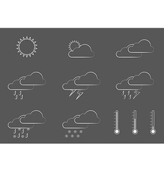 Simple weather icons vector