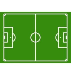 Soccer field or football pitch vector