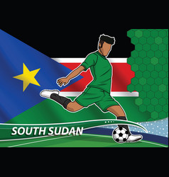 soccer team player in uniform with state national vector image