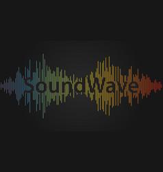 Sound wave audio waveform background equalizer vector