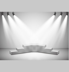 spotlights scene light effects podium vector image