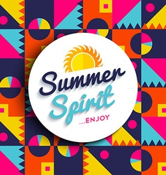 Summer spirit enjoy vacation on color background vector