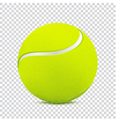 Tennis ball on transparent background vector