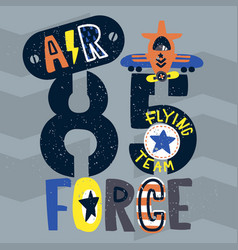 vintage air force typography vector image