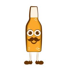 vintage happy beer cartoon character vector image