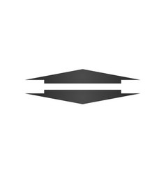 Wide up and down arrow icon element web icon vector